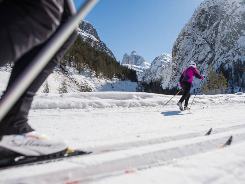 cross country skiing Hotel Dolomiten Toblach